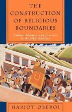 The Construction of Religious Boundaries: Culture, Identity, and Diversity in...