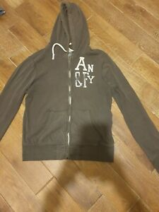 Green men's hoody from ABERCROMBIE & FITCH - Size Medium