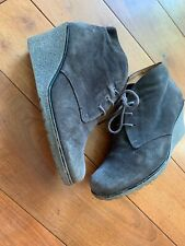 Gabor Suede Wedge  Ankle Boots Size 6.5UK