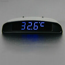 592E 12V 3 In 1 Car Auto Digital Clock Thermometer Battery Volt Monitor Meter