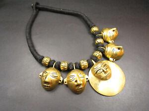 N5811 Naga head hunter face Banjara TIBETAN Tribal Gypsy ethnic choker Necklace