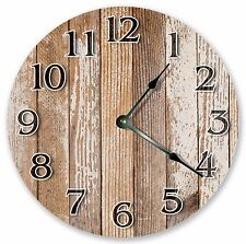 "10.5"" WORN OUT WOOD CLOCK - Large 10.5"" Wall Clock - Home Décor Clock - 3215"