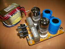 Preamplificatore a valvole con 2 tubi 6N3, HiFi stereo in KIT da montare
