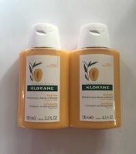 New Klorane Nutrition Shampoo With Mango Butter For Dry Hair 100ml*2 Deluxe Size