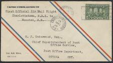 1928 AAMC #2807a Charlottetown to Moncton Mar 3rd Flight, 1st CPO Air Mail Envel