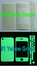 iPhone 4 * Matte * Glow in the Dark Full Body Skin sticker  ( Stronger Glow )
