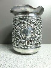 "Meriden Quadruple Plate Toothpick Holder Small Filigree Vase 2 1/2"" Tall"