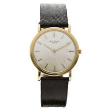 Vintage Patek Philippe Calatrava 3520 18k Yellow Gold Manual 32mm Wrist Watch