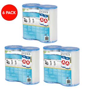 6pk Intex Filter Cartridges Replacement Type A Krystal Clear Swimming Pool Pump