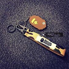 New A Bathing Ape Bape Pendant Keychain Key Ring Bag Accessory With Bape Head