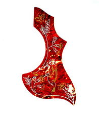 (B82) Hummingbird Style Acoustic Guitar Pick Guard ,Red Celluloid ,Premium