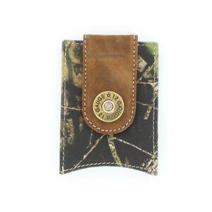 Nocona Men's Tan & Camo Shotgun Shell Leather Money Clip N54446222