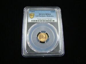 1903 Louisiana Purchase McKinley Gold Dollar PCGS Graded MS64 #41778783