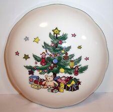 Nikko  Christmastime  candy dish & lid,   Porcelain Christmas tree trinket box
