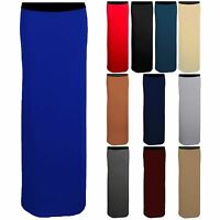 Womans Bodycon Gypsy Casual Maxi Elasticated Jersey Plain Long Stretch Skirt