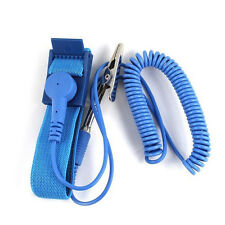 BL_ Grounding Anti Static ESD Strap Discharge Band Prevent Static Shock Kit Blue