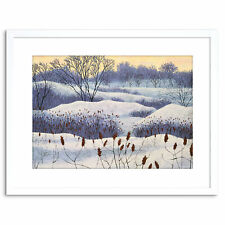 Painting Landscape Painting Winter Snow Tree Framed Print 9x7 Inch