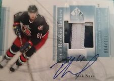 2004-05 sp authentic Rookie Review Rick Nash Autograph Patch