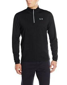 Under Armour Men's UA ColdGear Base 1/4 Zip Baselayer Fitted Shirt, Black Medium