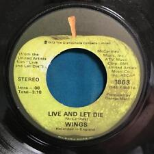 WINGS~LIVE AND LET DIE/ I LIE AROUND~NM-ORIG 1973 APPLE 45~SLV~MCCARTNEY~BEATLES