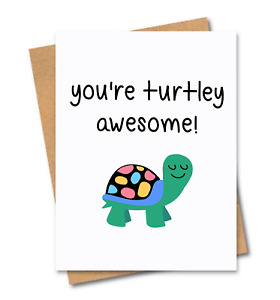 Funny card / Turtley awesome / Friends of Henry / Birthday / Fathers Day card