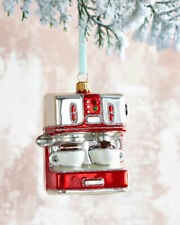 Neiman Marcus NWT Christmas Ornament Glass Espress Machine  ($43) w/tax