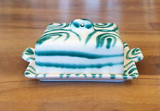 Gmundner Keramik grün geflammte Butterdose