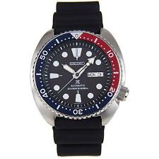 SEIKO MEN'S 44MM BLACK RUBBER BAND STEEL CASE AUTOMATIC ANALOG WATCH SRP779K1