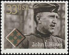 US 3393 Distinguished Soldiers John L Hines 33c single (1 stamp) MNH 2000