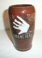 Lord of the Rings URUK HAI Ceramic Pint Glass Applause 2002 Tolkien LOTR Hobbit