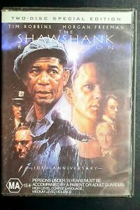 The SHAWSHANK Redemption Morgan Freeman Tim Robbins (DVD 1994) R4 Movie Drama