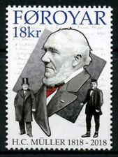 Faroe Islands 2018 H. C. Muller, first Faroese Postmaster, Mnh / Unm