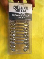 Excell 1Me-061O0-0325-040 Deluxe Shower Curtain Hooks, Silver, 12-Pack New Pack