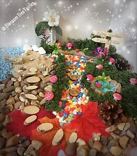 Fairy Garden Kit Fairy Door / house Accessory Stepping Stones Miniature Sign