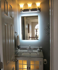 """Lighted Vanity Mirror 24"""" Wide x 32"""" T  MAM92432 Side Lighted LED Wall Mounted"""