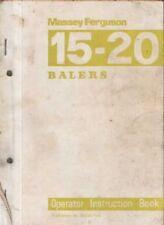 MASSEY Ferguson Baler MF15 & MF20 opérateurs manuel-MF 15 20