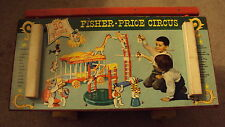 Vintage Fisher Price Big Circus Great Graphics # 900 Performing almost Complete