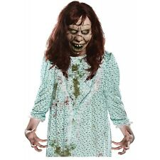 Regan Costume Mask Adult The Exorcist Scary Horror Zombie Halloween Fancy Dress