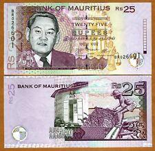 New listing Mauritius, 25 rupees, 2009, P-New, 3-signatures, Unc