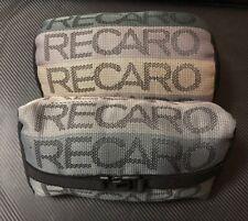 x2 RECARO Gradation Neck Headrest pillow Fabric Racing seat material MEMORY FOAM