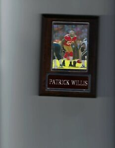 PATRICK WILLIS PLAQUE SAN FRANCISCO FORTY NINERS 49ers FOOTBALL NFL