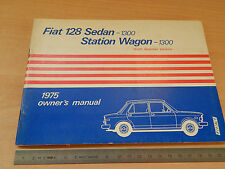 MANUALE USO MANUTENZIONE ORIGINALE FIAT 128  AMERICA 1975