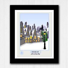 Harry Potter Hogsmeade Village Minimalist Poster - Travel Poster