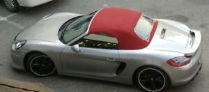 2013-18 Porsche 981,718 Boxster/S Roadster Replacement Convertible Soft Top- RED