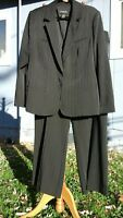 LANE BRYANT NWOT PANTS SUIT SET PLUS SZ 22 2X 1X BLACK & WHITE PINSTRIPE 2 PC
