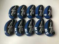 10PCS Golf Iron Headcovers for Taylormade M5 Club Head Covers Blue&Black 4-LW