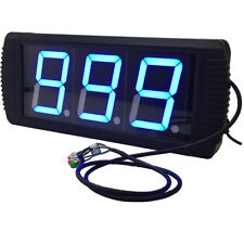 """4"""" High Character LED Counter with 3 Buttons Blue Color LED Manual Counter"""