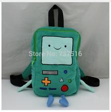 "New 11""Plush Backpacks Adventure Time BMO Beemo Plush Book Bag Small"