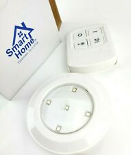 New in Box Set of 4 LED stick up lights With Remote & instructions by Smart Home