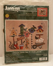 Vintage Janlynn Counted Cross Stitch Kit Birdhouse Welcome New In Package